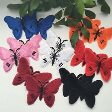 2pcs Butterfly Embroidered Appliques Iron On Sew On Patch