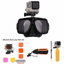 Diving Glasses Masks+Lens Filter Kit+Floaty Strap For GoPro Hero4 Session 3+/4