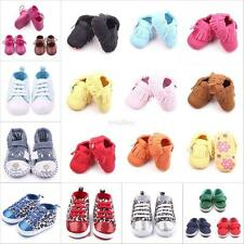 Newborn Baby Soft Sole Crib Shoes Infant Boy Girl Toddler Moccasin 0-12m