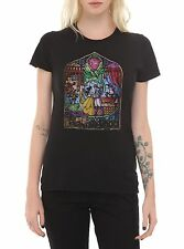 Disney Beauty And The Beast Stained Glass Girls Juniors T-Shirt S, M, L  - NWT