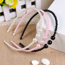 1x Alice Band Accessories Girls Hair Beauty Headbands Rhinestone Faux Pearl SP1