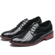 New Design Chic Mens Oxfords Leisure Grid Pattern Wing Tip Formal Dress Shoes
