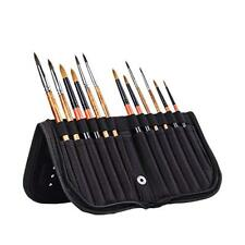 Paint Brushes Case Holder for Oil Watercolor Acrylic Gouache Brushes Organizing