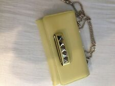 VALENTINO VA VA VOOM YELLOW LEATHER CHAIN SHOULDER BAG NEW WITH TAGS!!!