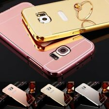 Luxury Ultra-Thin Aluminum Metal Frame Case Mirror Back Cover for Samsung Galaxy