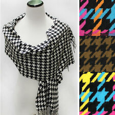 Women Long shepherd check Plaids scarf Wrap Shawl Gift Scarves Cashimere Feel