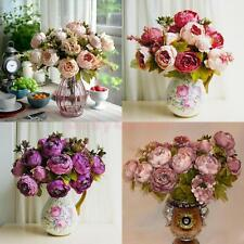 Artificial Peony Silk Fake Flower Bouquet Wedding Bride Foral Home Decoration