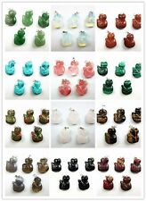 5PCS Wholesale mixed color mixed material carved fox pendant bead