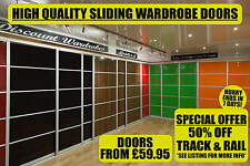 Sliding Wardrobe Doors | DIY Assembly | Solid and Mirrored | High Gloss Finish