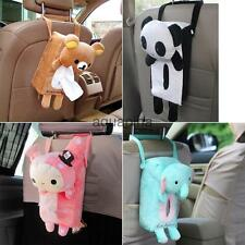 Cute Animal Soft Plush Paper Napkin Tissue Box Cover Car Home Decor 4 Types