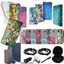 For HTC Phone - Credit Card PU Leather Wallet Pouch Slim Stand Case Cover + MORE
