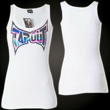 Tapout Woman Tank Top Stripe Logo White