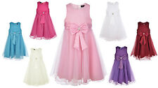 Girls Bow Dress For Weddings, Bridesmaids, Flowergirl, Party!