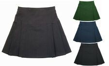 Girls Ladies Stylish Two Pleat Layered RARA Stretch School Office Formal Skirt
