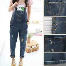 Women Baggy Denim Jeans Lomg Length Pinafore Dungaree Overall Jumpsuit Playsuit