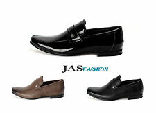 Mens Slip On Shoes Italian Loafers Smart Designer Moccasin Work Casual Size 6-11