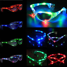 LED Light Up Sunglasses Shades Flashing Blink Glow Glasses Party Rave MCE
