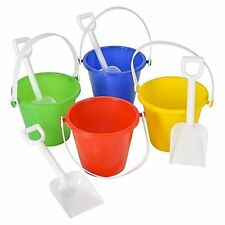 Beach Pails and Shovels - 5 inch, assorted colors (12/PKG)