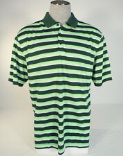 Nike Golf Dri Fit Standard Fit Green Stripe Short Sleeve Polo Shirt Mens NWT