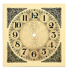 """New 7.5"""" Square Metal Clock Dial with Raised Corners - Choose a Style (DM-11,12)"""