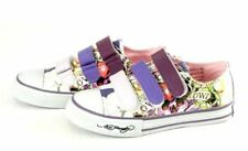 Ed Hardy girl's Kids VELCRO shoes Love Skulls PURPLE