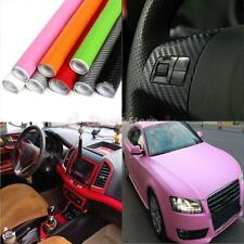 3D Waterproof Carbon Fiber Vinyl Car Wrap Sheet Roll Film Sticker Decal 200x30cm