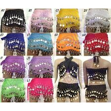 BELLY DANCE HIP SCARF Silver COIN Belly Belt WRAP SKIRT WHOLESALE lots PRICE