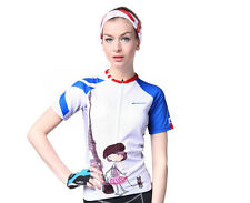 Pro Team Women Road Bike Clothing Cycling Jersey Short Sleeve Tops Riding Shirt