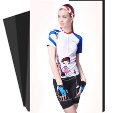 Womens Breathable Cycling Clothing Bike Short Sleeve Bicycle Jersey & Shorts Set