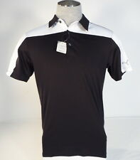 Puma Golf Performance Fit Black & White Short Sleeve Polo Shirt Mens NWT