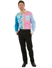 Mens Gnat Fun Patterned Foul Stag Night Funny Fancy Dress Shirt