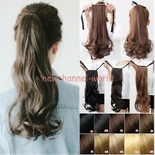 real quality clip in ponytail Tie up pony tail hair extension Natural Long ha2