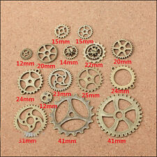 Vintage Antique Bronze Alloy Gear Pendant Charms DIY Jewelry Findings 15 styles