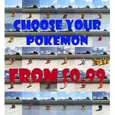 CHOOSE YOUR POKEMON GO FIGURE FROM 99p CLASSIC COLLECTION PIKACHU CHARMANDER ASH