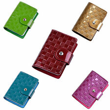 Woman Lady Faux Leather ID Credit Card Case Holder Pocket Bag HP