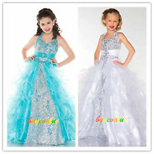 Flower Girl Dresses for Wedding Bridesmaids Prom Ball Gown kids Party pretty-Y