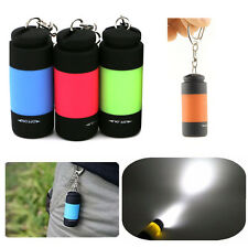 Fashion USB LED Light Flashlight Lamp Mini Torch Pocket Keychain Rechargeable