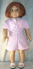 "Doll Clothes fit American Girl 18"" inch Dress Shrug Pink White Dot NEW"