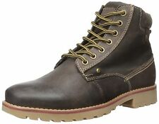 Steve Madden Casual Fashion Leather Canterr Winter Brown Mens Shoes Boots