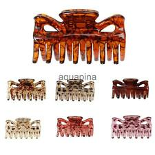 Phenovo Women Hair Clamp Claw Clip Comb Grip Hair Accessories Leopard Print Line
