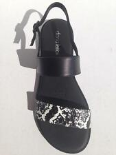 New Womens Diana Ferrari Leather Sandal/Shoe Black/Snake Sz 6/7/8/9/10/11/12