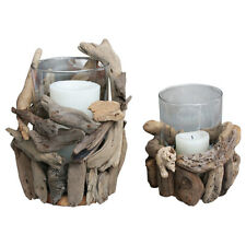 Driftwood Candle Holders