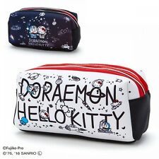 Hello Kitty x Draemon Makeup Pouch Cosmetic Bag Purse Case Sanrio Japan S6059