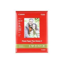 """20-400 sheets Canon Photo Paper Plus Glossy II, 8.5"""" x 11"""""""