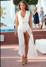 ZARA LONG EMBROIDERED DRESS OFF WHITE Ref. 7521/107 M,L BLOGGERS FAVORITE