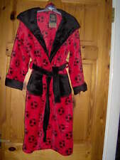 BOYS- OH SO SOFT! DRESSING GOWN/ROBE WITH HOOD  -RED -BLUE -NAVY AGES 7/8- 9/10-