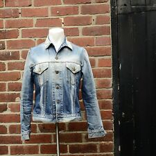 Mens Levis Faded Blue Denim Jacket - Size L