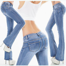 Womens New Sexy Ripped Jeans Skinny Blue Low Rise Hipster with Studs Sz 8 10 12