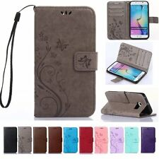 Flip Leather Wallet Cash Cards Holder Stand Strap Case Cover For Samsung Galaxy