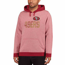 Majestic San Francisco 49ers Heathered Scarlet Gameday Classic Pullover Hoodie